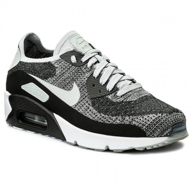 309006a7d2cb Shoes NIKE. Air Max 90 Ultra 2.0 Flyknit 875943 005 Black Wolf Grey Pure  Platinum