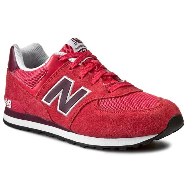 Shoes NEW BALANCE - Classics KL574RRY Red - Laced shoes - Low shoes ...