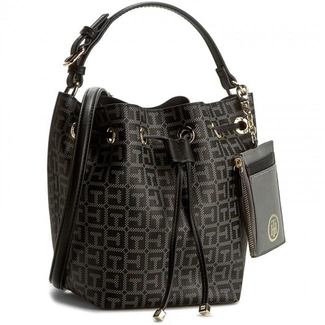 1c58dda68d3c0 Handbag TOMMY HILFIGER - Love Tommy Mini BuckeT Logo AW0AW003373 901 ...