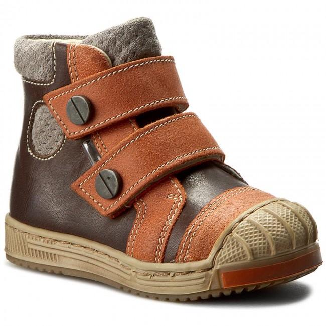 Boots ANTYLOPA - 0496/1-79-J Brąz/Pomarańcz