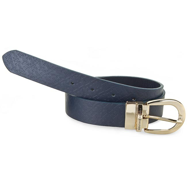 Women's Belt TOMMY HILFIGER - Dominique Belt 3.0 Reversible BW56927367 Midnight 403