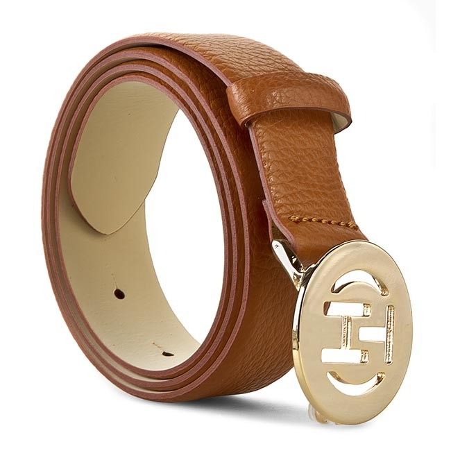 Women's Belt TOMMY HILFIGER - Elisabetta Belt 3.0 BW56927374 Summer Cognac 929