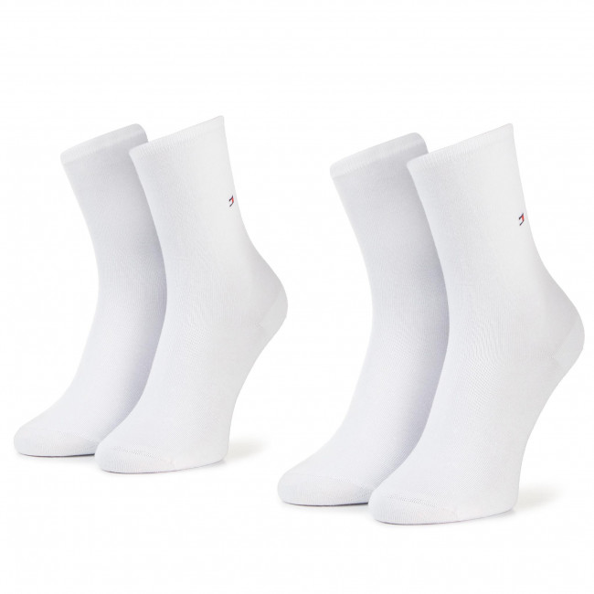 2 Pairs of Women's High Socks TOMMY HILFIGER - 371221 White 300