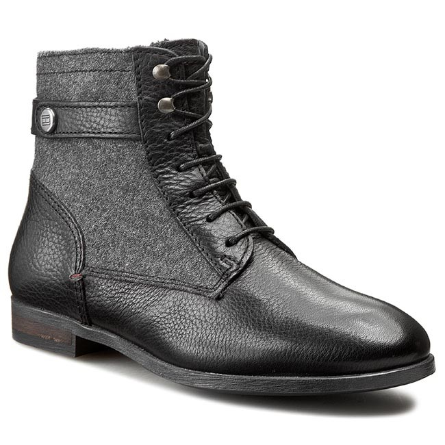 Boots TOMMY HILFIGER - Billie 14C FW56819999 Black/Dark Grey 990