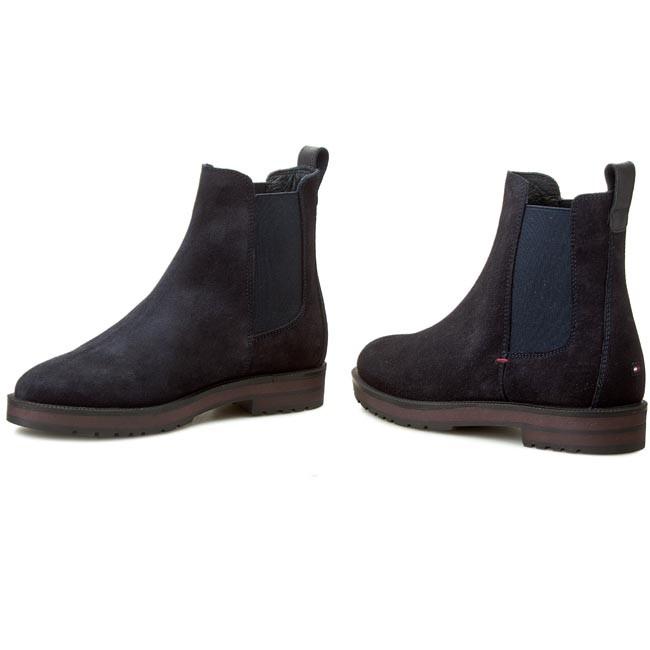 ankle boots tommy hilfiger west 6b fw56820013 midnight. Black Bedroom Furniture Sets. Home Design Ideas