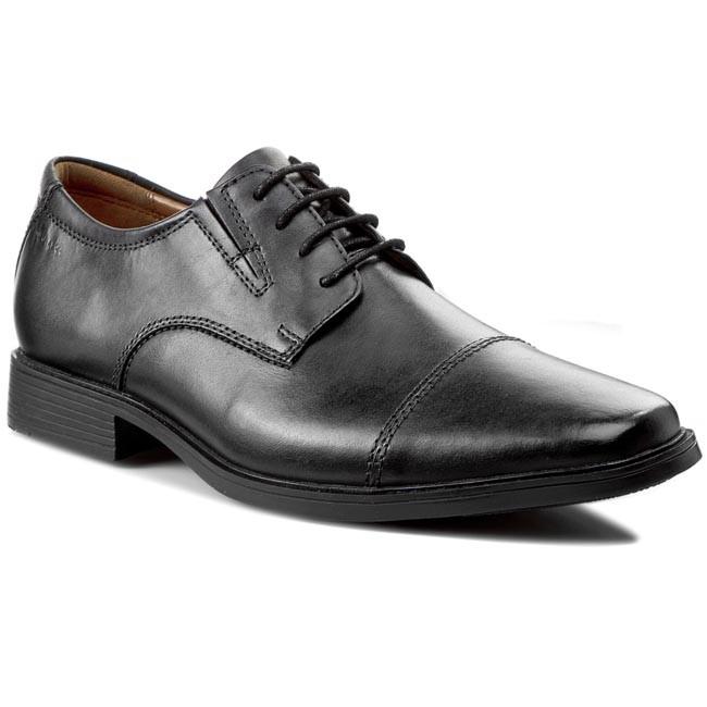Shoes CLARKS - Tilden Cap 261103097 Black Leather
