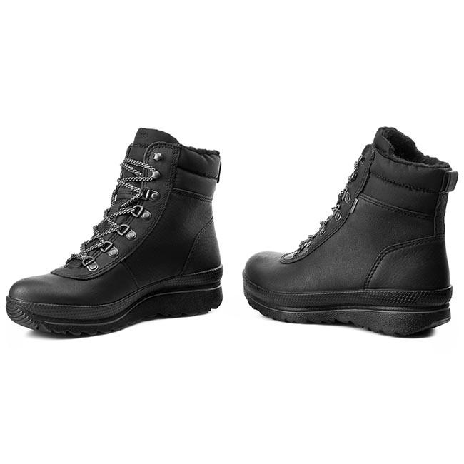 Trekker Boots ECCO Hill 24306357341 BlackBlackSilver Metallic