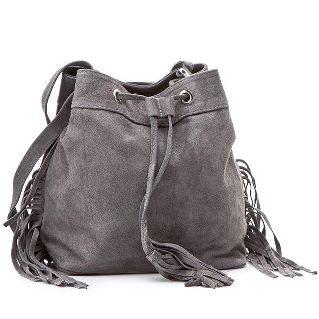 Handbag CREOLE - RBI10134 Szary Zamsz