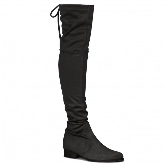 Over-Knee Boots R.POLAŃSKI - 0794 Czarny Zamsz