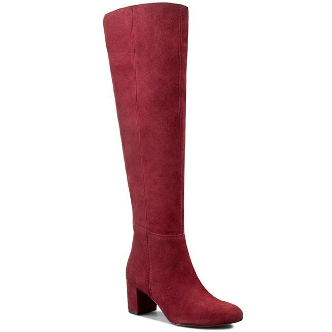 Over-Knee Boots R.POLAŃSKI - 0803 Bordo Zamsz