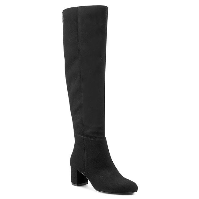 Over-Knee Boots R.POLAŃSKI - 0803 Czarny Zamsz