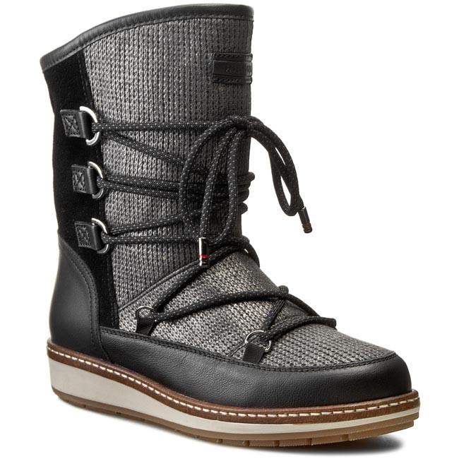 Boots TOMMY HILFIGER - Wooli 6C2W FW56820003 Black/Metallic 990