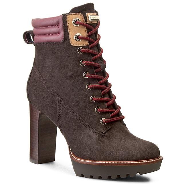 Boots TOMMY HILFIGER - Ileen 11B FW56819531  Coffee Bean/Zinfandel 212