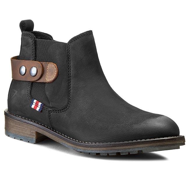 Boots TAMARIS - 1-25475-25 Black/Mocca
