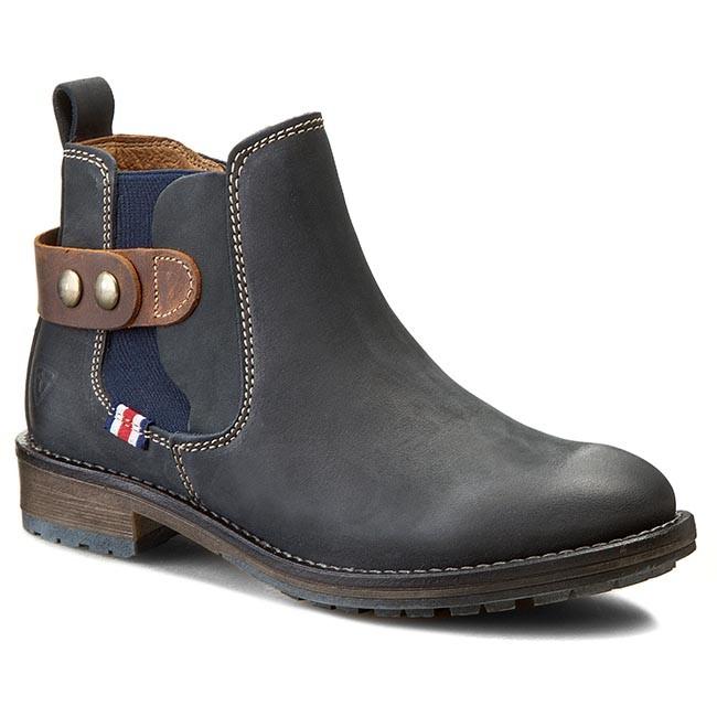 Boots TAMARIS - 1-25475-25 Navy/Mocca 804