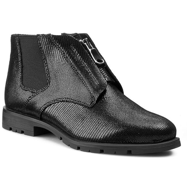 Boots NESSI - 682/0 Czarny Lizaro