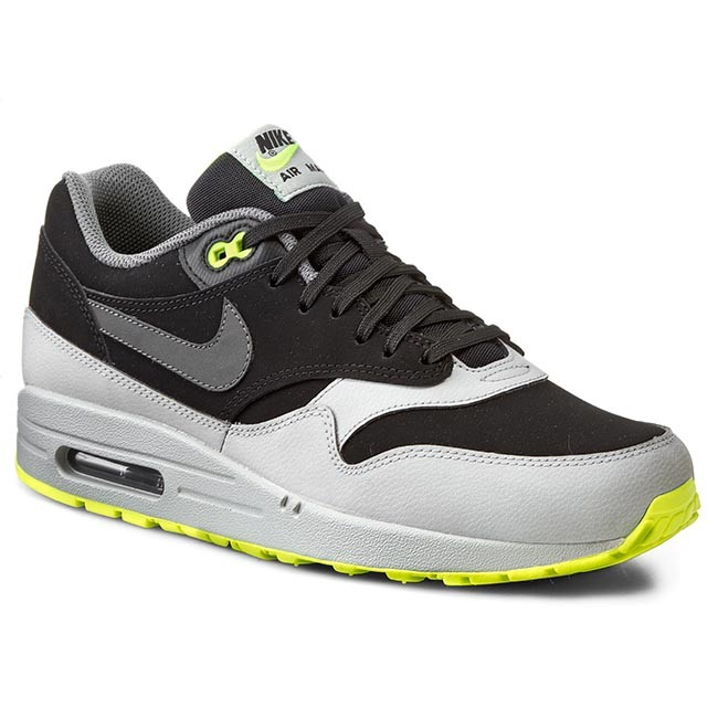 Shoes NIKE Nike Air Max 1 Ltr 654466 007 BlackDark GreySilverVolt