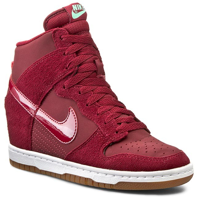 Shoes NIKE - Wmns Dunk Sky Hi Essential 644877 603 Team Red/Tm Red/Sl Gm Md Brown