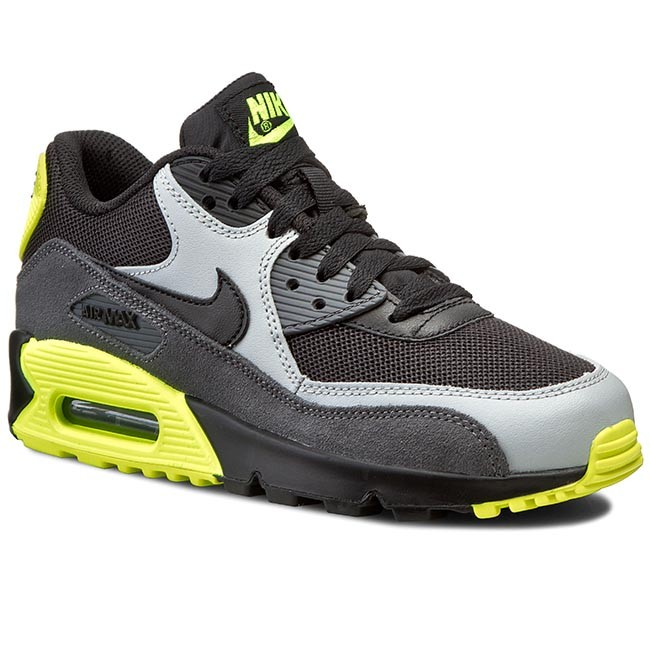 Shoes NIKE Air Max 90 Mesh (Gs) 724824 002 BlackBlack Wolf GreyDrk Grey