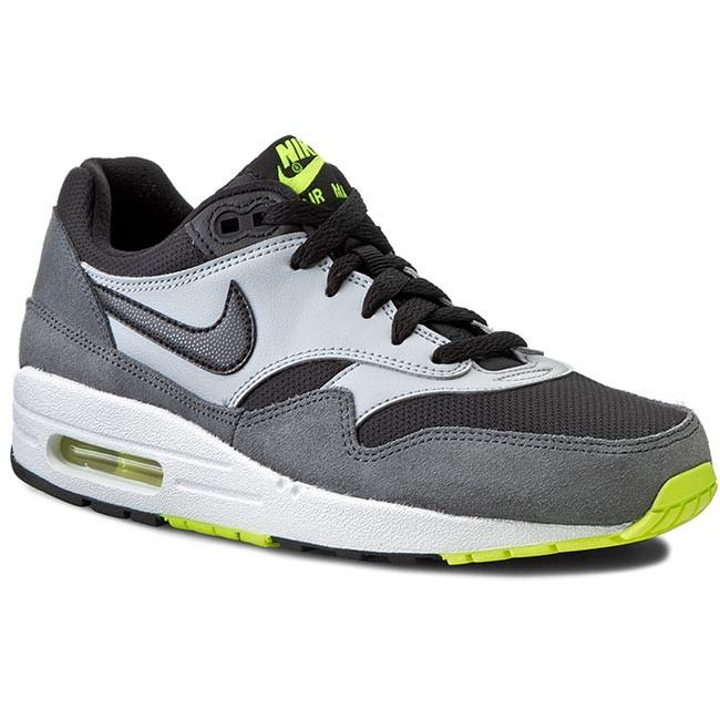 Shoes NIKE - Air Max 1 (GS) 555766 047 Black/White/Dark Grey