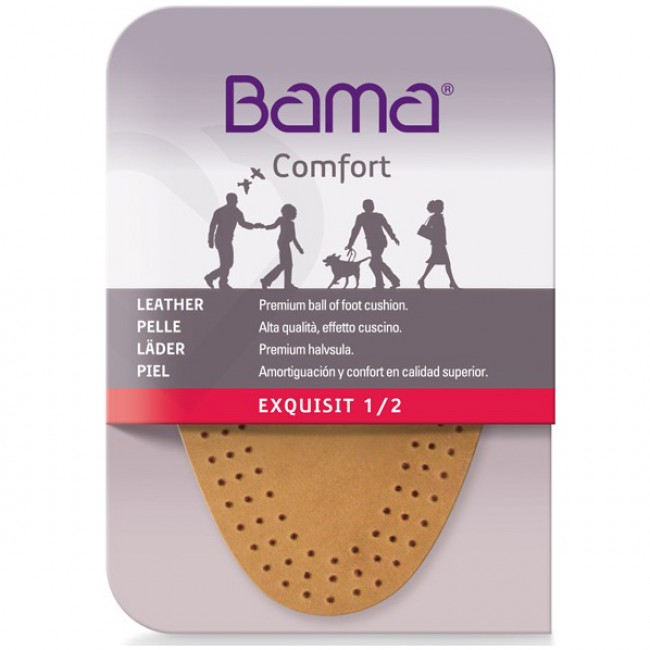 Leather Half-insoles BAMA - Exquisit 1/2 01700 Brown