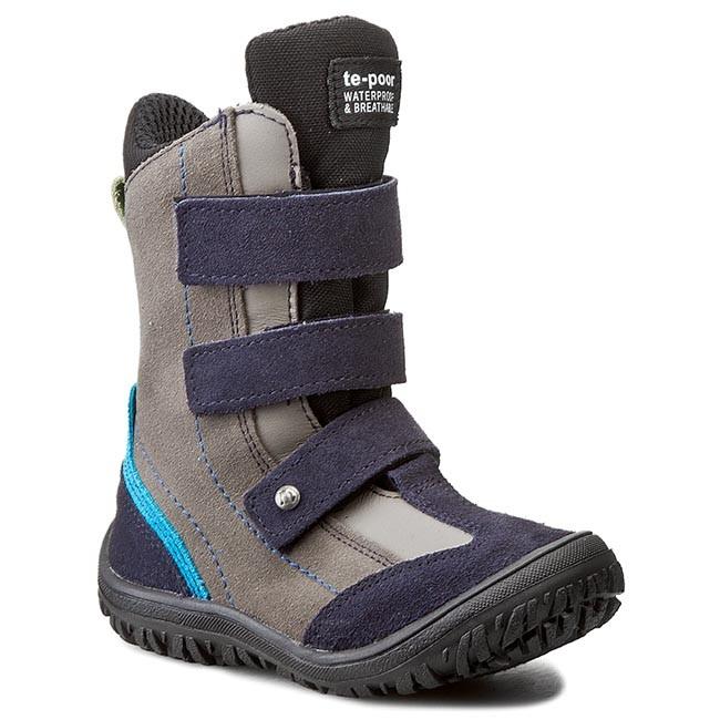 Knee High Boots MRUGAŁA - 7265-78 Granat/Popiel