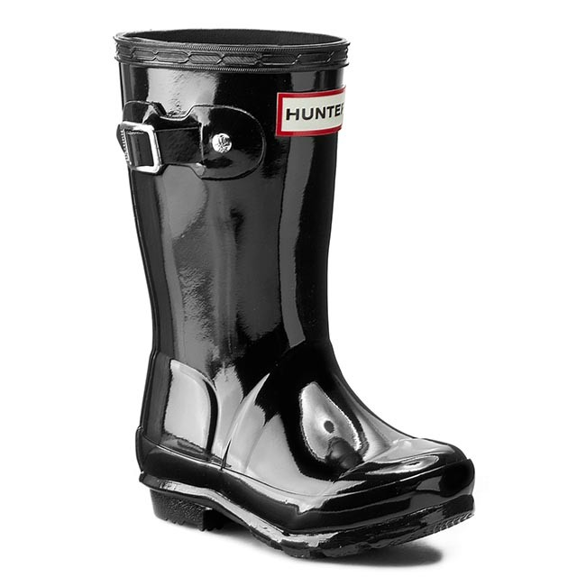 Wellingtons HUNTER - Orginal Kids Gloss JFT6000RGL Black