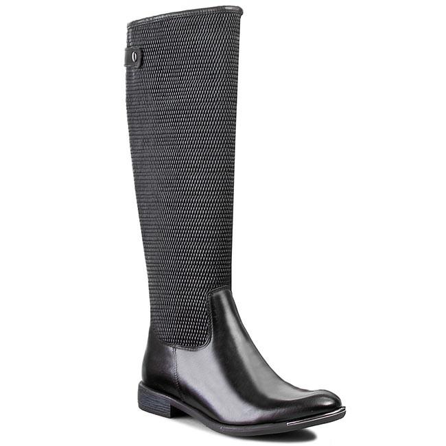 Knee High Boots CARINII - B2295 Classic Nero/Oc Filc