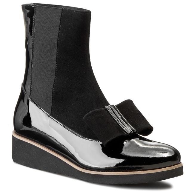 Boots SAGAN - 2584 Czarny Lak./Czarny Welur