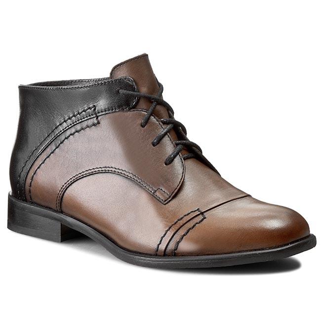 Boots BUT-S - W028-K28-0P0 Czarny/J.Brąz