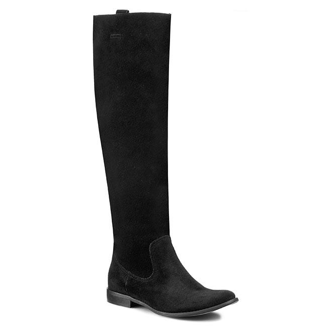 Knee High Boots ROBERTO - 141 Czarny Welur