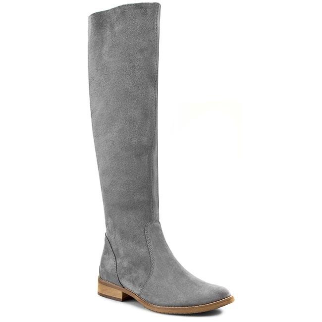 Knee High Boots ROBERTO - 444 Szary Welur