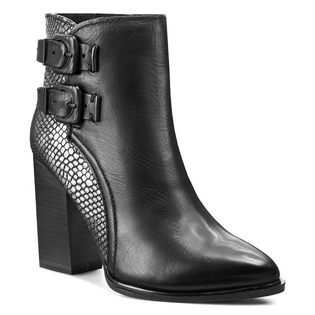 Boots MARCO TOZZI - 2-25023-25 Blk/Blk Struct 052