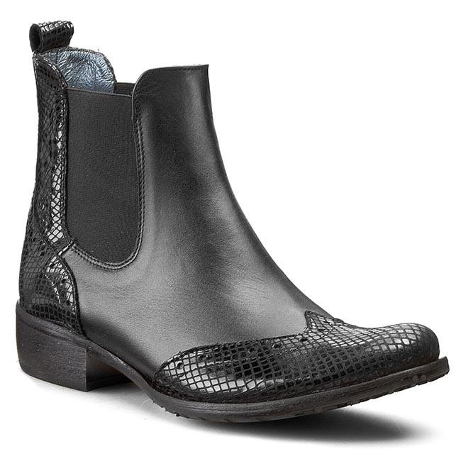 Ankle Boots A.J.F. - 00748 Czarny Snake 718/012