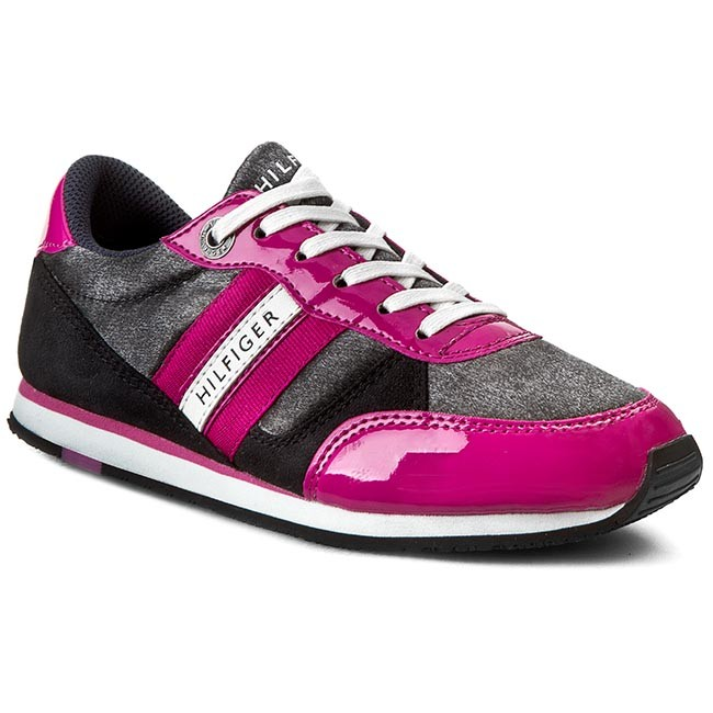 Sneakers TOMMY HILFIGER - Jaimie 3C FG56819746  Black/Fuchsia Red 990 M
