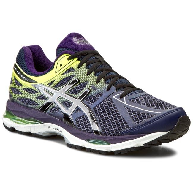 Shoes ASICS - Gel-Cumulus 17 T5D3N Indigo Blue/Black/Flash Yellow 4990