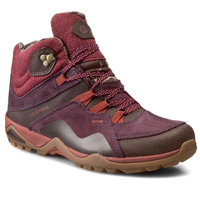 Trekker Boots MERRELL - Fluorecein Mid Waterproff J32170 Plum Red