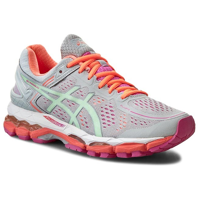 Shoes ASICS - Gel-Kayano 22 T597N Silver Grey/Pistachio/Fiery Coral