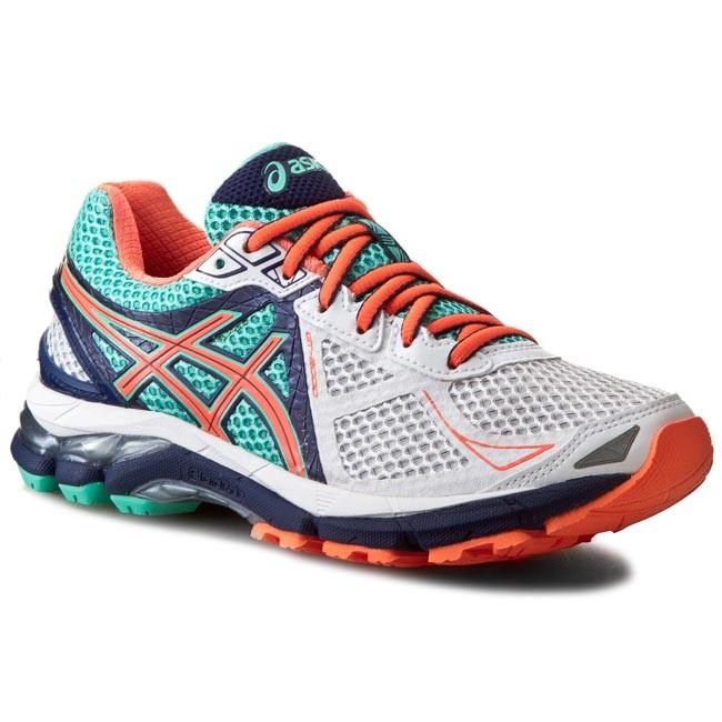 Shoes ASICS - Gt-2000 3 T550N White/Flash Coral/Aqua Mint 0106