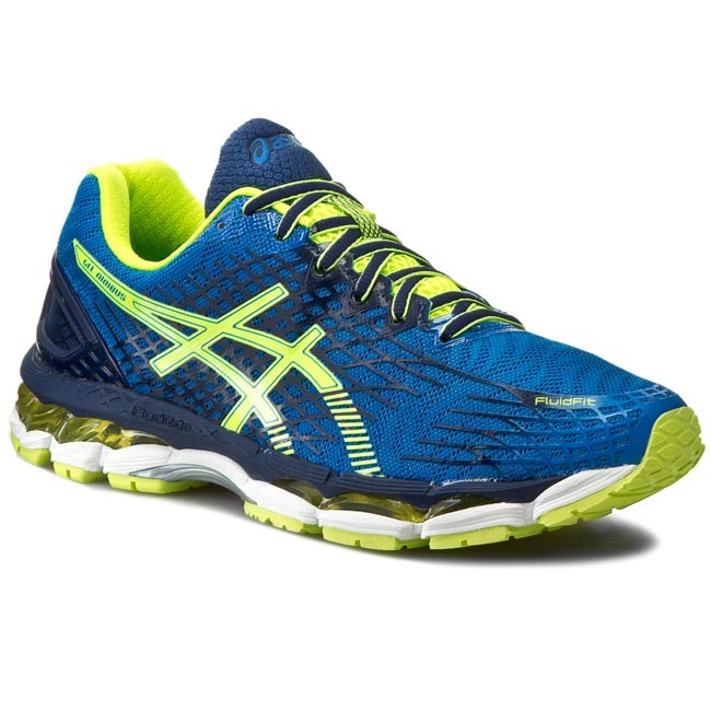 Shoes ASICS Gel Nimbus 17 T507N Eletric BlueFlash YellowIndigo Blue