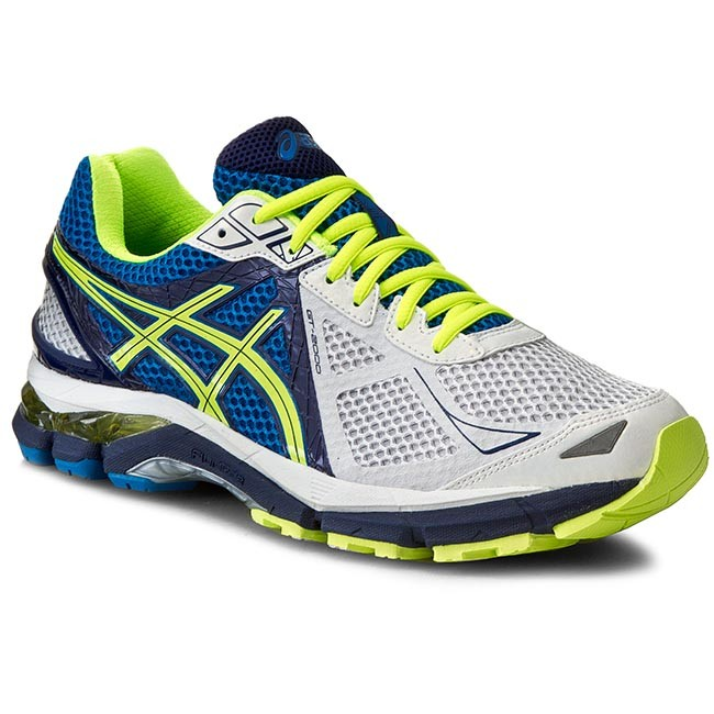Shoes ASICS - GT-2000 3 T500N White/Flash Yellow/Indigo Blue