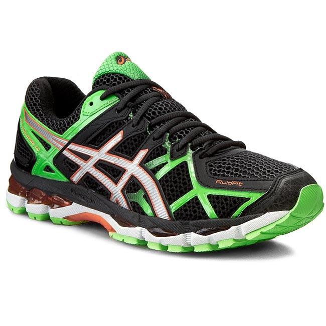 Shoes ASICS - Gel-Kayano 21 T4H2N Black/Lightning/Flash Green