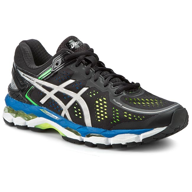 Hombre Centelleo Huérfano  Shoes ASICS - Gel-Kayano 22 T547N Black/Silver/Flash Yellow 9093 - Indoor -  Running shoes - Sports shoes - Men's shoes | efootwear.eu