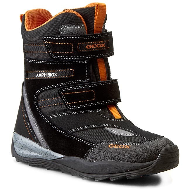 Snow Boots GEOX - J Orizont B. Abx A J540BA 01122 C0038 Black/Orange