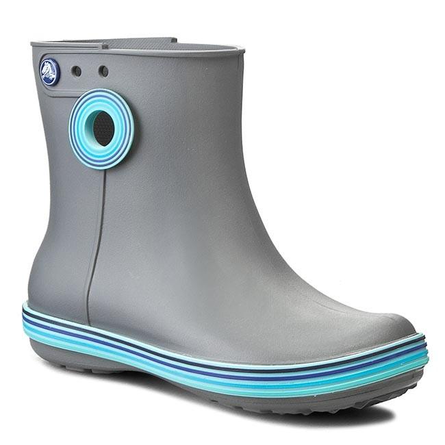 Wellingtons CROCS - Jaunt Stripes Shorty Boot W 202317 Smoke/Cerulean Blue