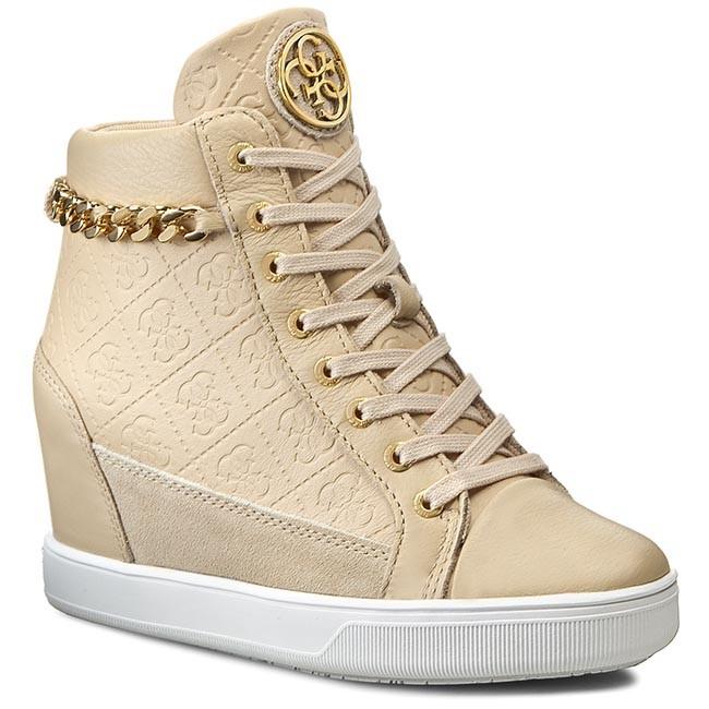 Sneakers GUESS - Furr2 FLFUR1 LEA12 BEIGE