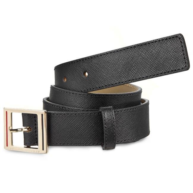 Women's Belt TOMMY HILFIGER - Fall Honey Belt 3.0 AW0AW01002 Black 002