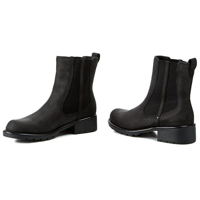 Ankle Boots CLARKS Orinoco Club 203409184 Black Leather