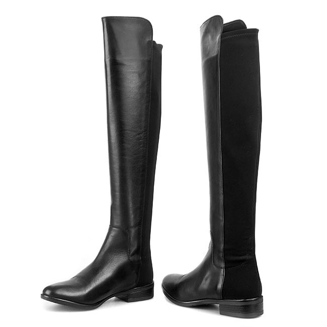 ba04907adba Over-Knee Boots CLARKS - Caddy Belle 261079044 Black Leather