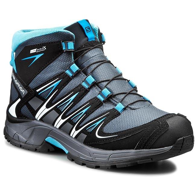 Trekker Boots SALOMON Xa Pro 3D Mid Cswp J 373086 14 M0 Grey DenimBlackMethyl Blue